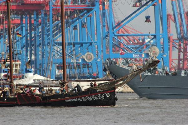 Blick über den Hamburger Hafen I