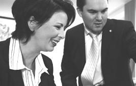 Sabine Kuropka und Peter Eichmüller, GF communicall