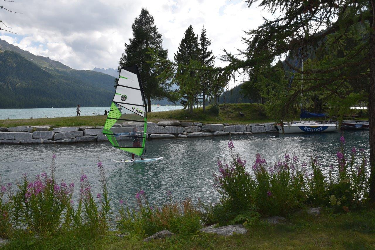 Windsurfschule am Silvaplanersee