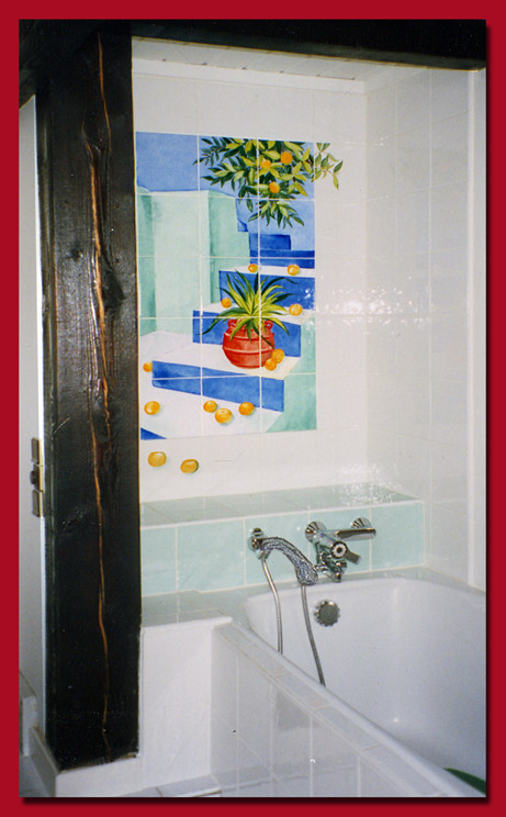 """Salle de bain. """"Mandarines"""""""