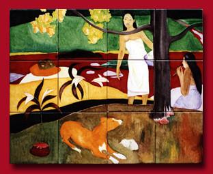 Tableau d'après Gauguin