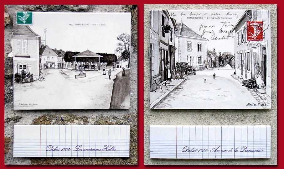 Réalisé d'après d'anciennes cartes postales.