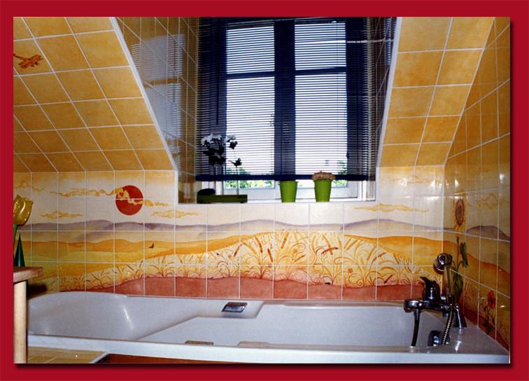 """Salle de bain. """"Soleil couchant"""""""
