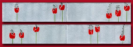 Frises tulipes