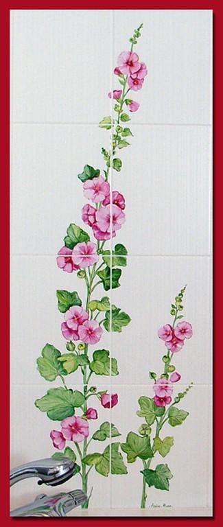 Roses trémières (détail)