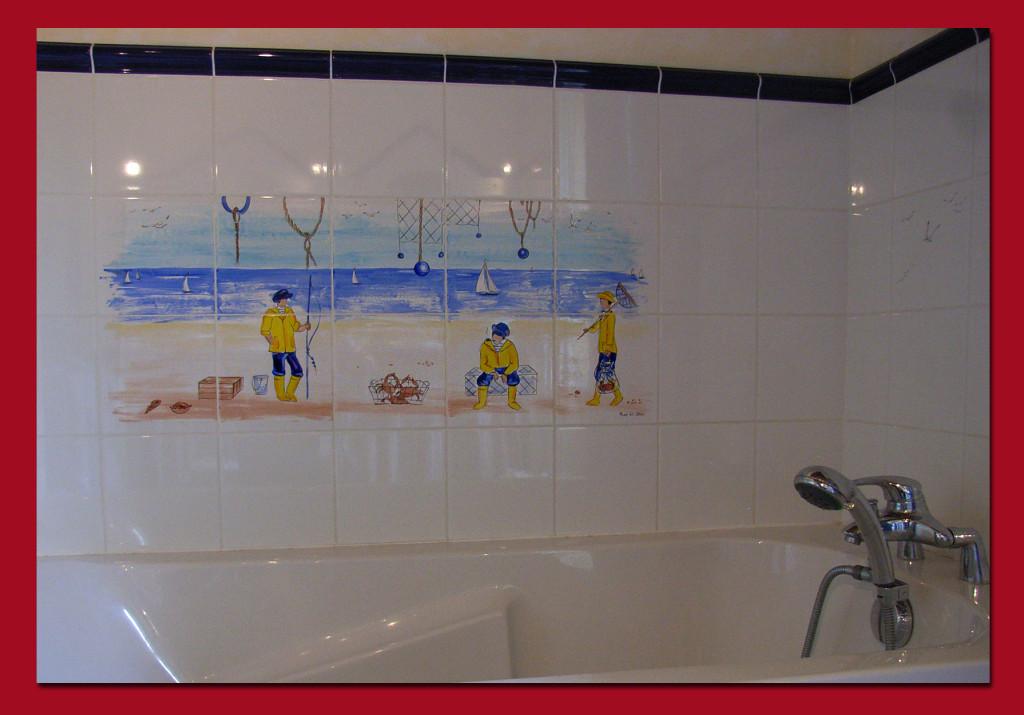 "Salle de bain. ""La pêche"""