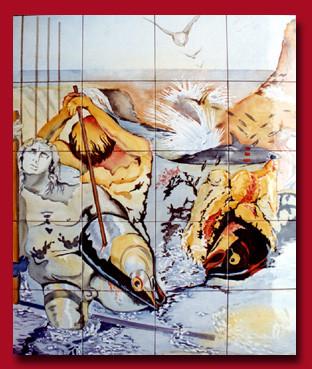 Fresque d'après S. Dali