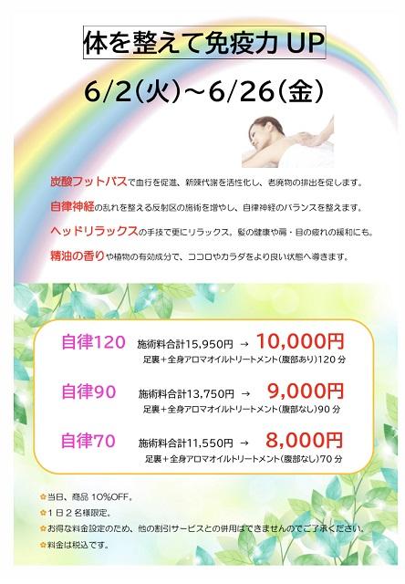 6月 キャンペーン 免疫力
