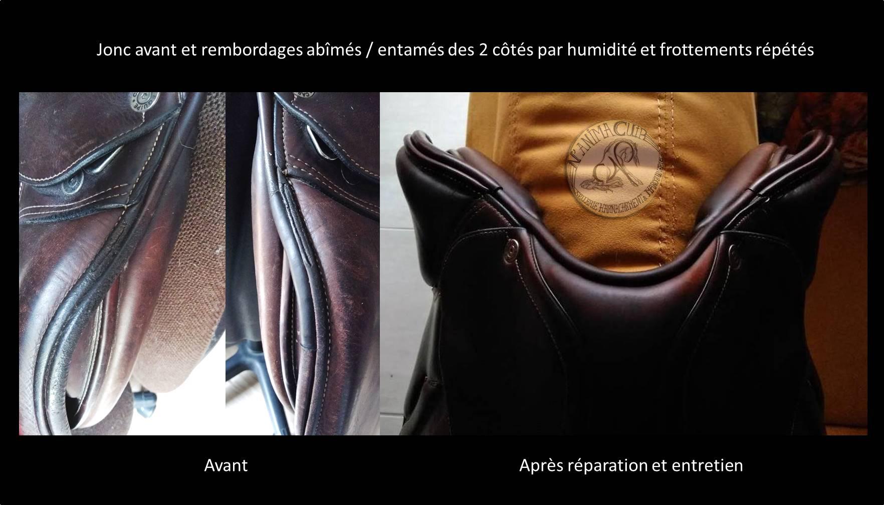 "réparations N'anima Cuir selle ""Equipe Carbon"" ©"