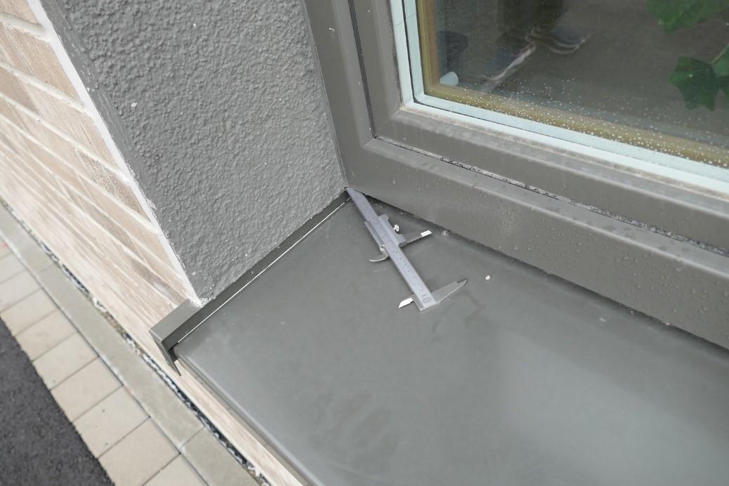 Undichter Eckanschluss an Fensterbänken