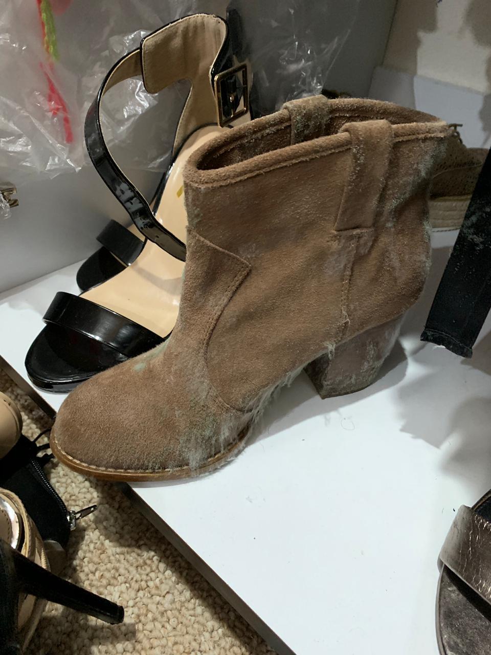 Zapato con hongos