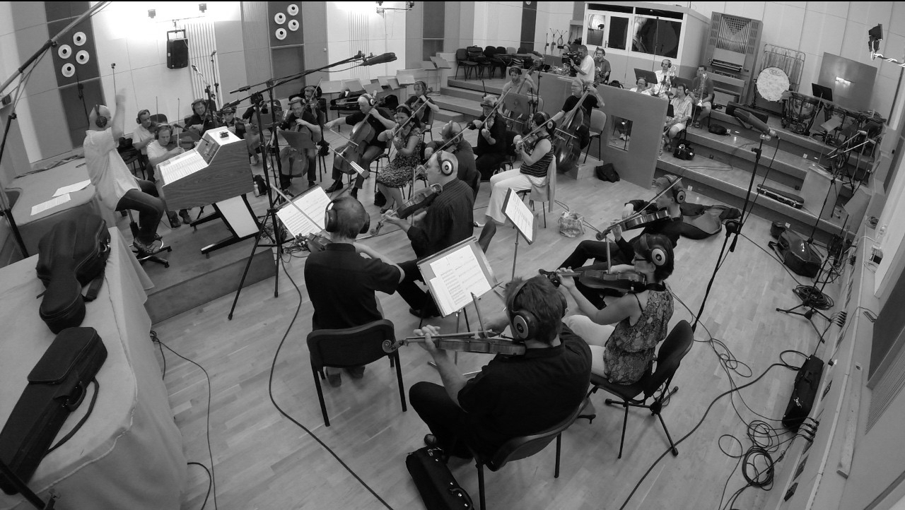 ASTROVOYAGER RECORDING SESSION PRAGUE PHILHARMONIC