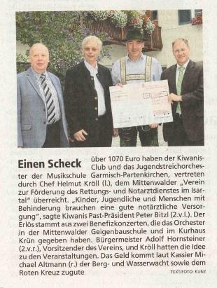 Garmischer Tagblatt vom 29.08.2016