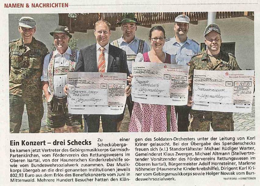 Garmischer Tagblatt vom 23.08.2016