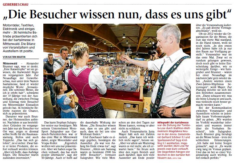 Garmisch-Partenkirchner Tagblatt vom 11.05.2011
