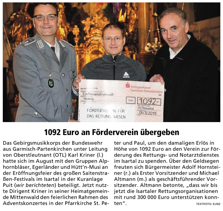 Garmischer-Partenkirchner Tagblatt vom 20.12.2019