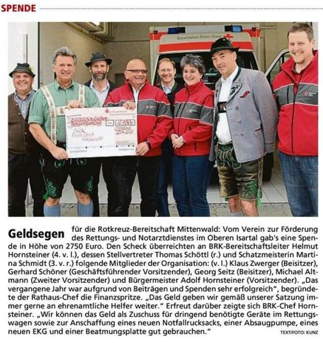 Garmischer Tagblatt 27.04.2015