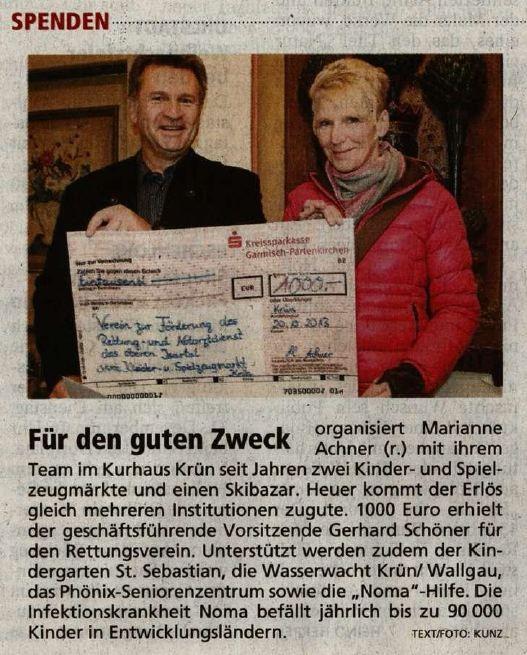 Garmischer Tagblatt 28.12.2013