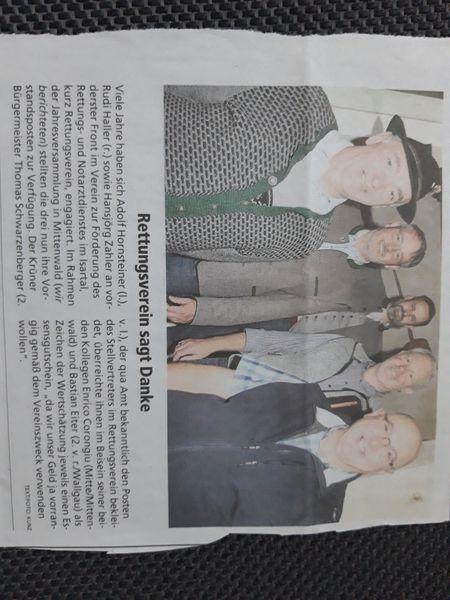 Verabschiedung des 1. Vorsitzenden Adolf Hornsteiners sowie des langjährigen Beisitzers Rudi Haller im Zuge der Jahreshauptversammlung am 05.08.2021; Bild Garmisch-Partenkirchener Tagblatt