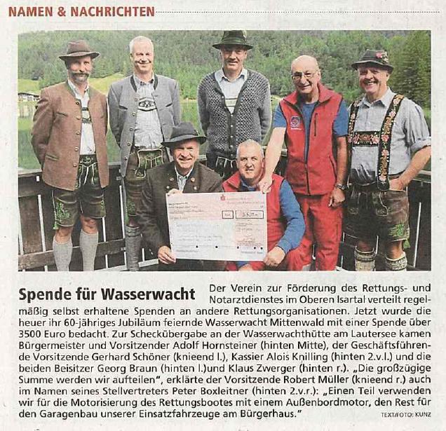 Garmischer Tagblatt vom 22.08.2016