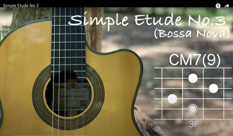 Simple Etude No.3(Bossa Nova)