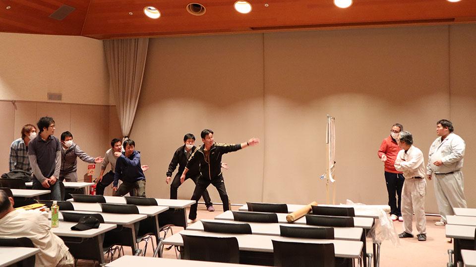 平成30年12月の手古舞練習風景