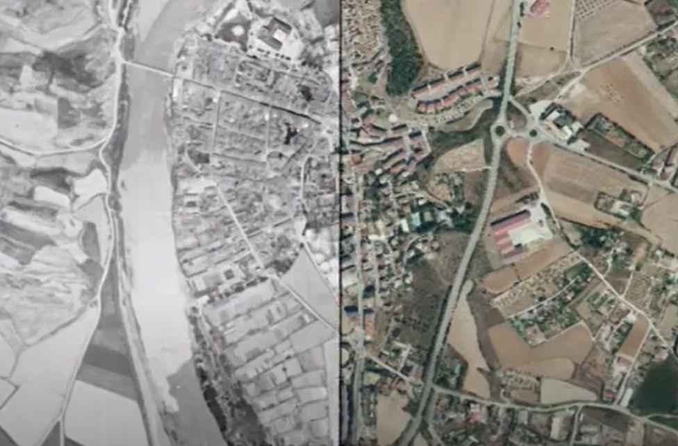 """¿Cómo era Sangüesa entre 1927 y 1934? Mira este video y echa un vistazo a la web """"ComparaMapas"""""""