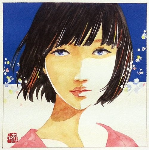Moment Sold 12014 40×140mm Fine Face Canson water color(顔彩),Acryl Gouache