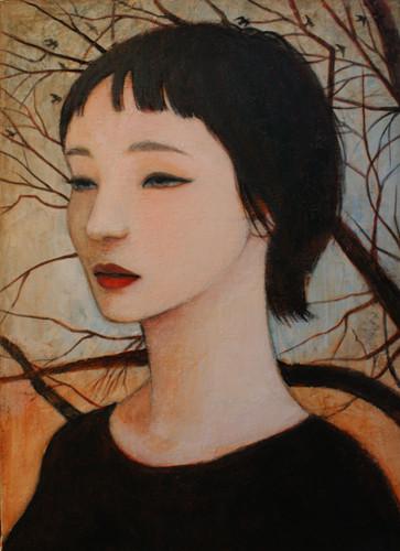 夕暮れ(非売)/2011 Acrylics gouacheキャンバス