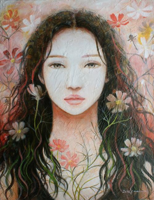 秋桜/2012 Acrylics gouacheキャンバス