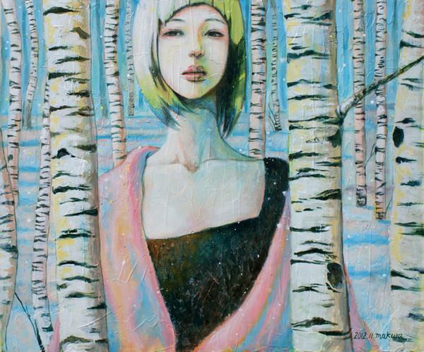 夢で逢えたら(非買)/2012 Acrylics gouacheキャンバス