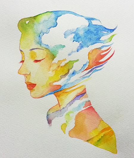 Sky melody marman paper(F3size)Water color