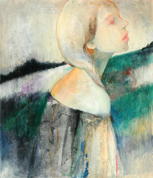 夢のなかの少女 sold/2009 Acrylics gouache木製パネル
