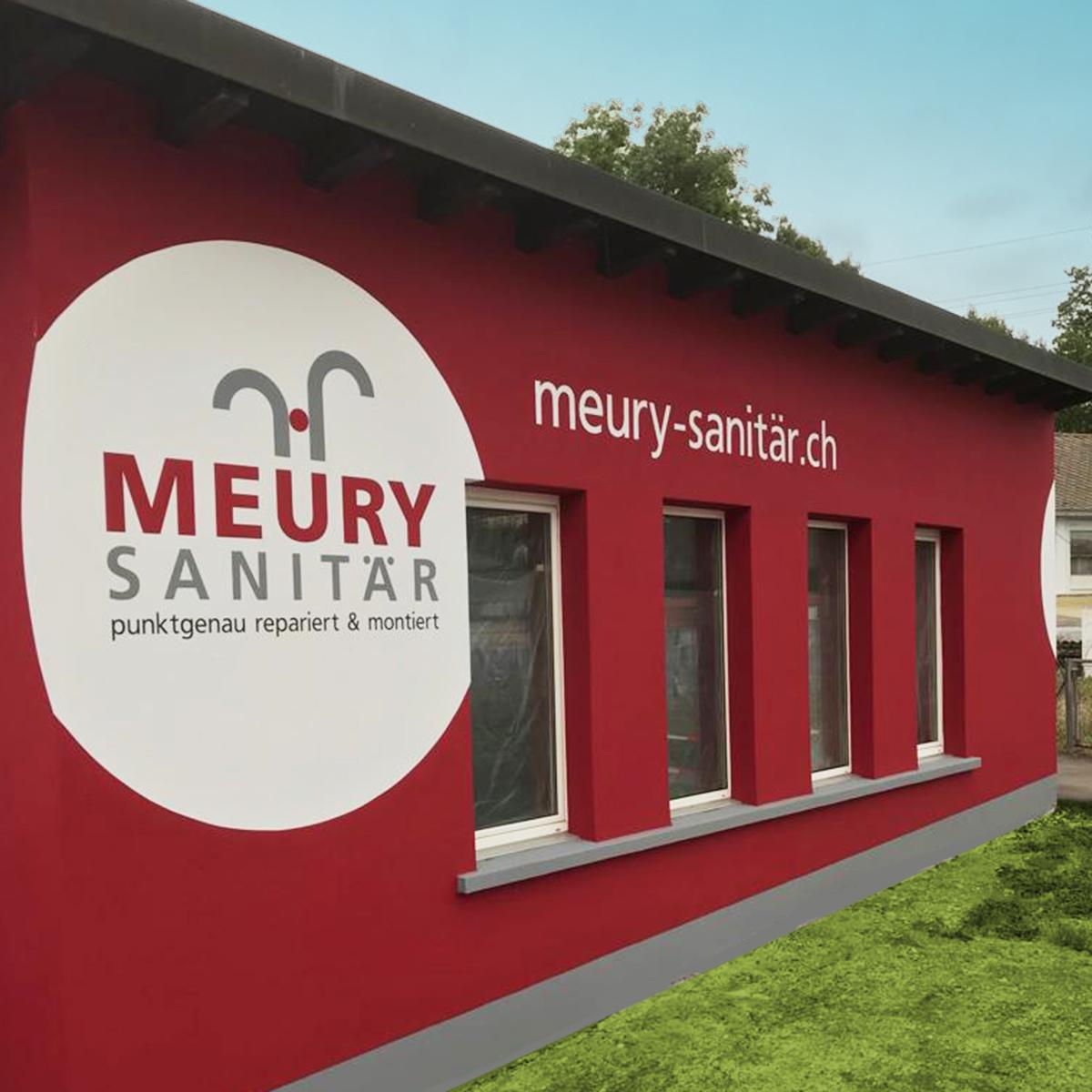 Meury Sanitär Design der Fassade der Werstatt