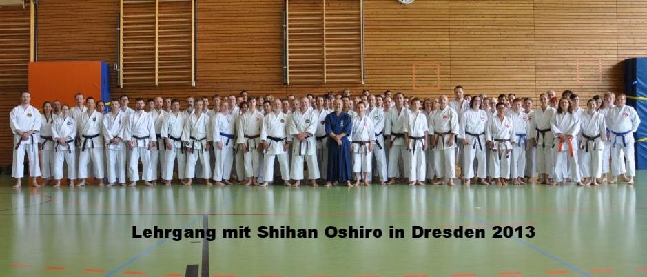 Lehrgang mit Shihan Oshiro in Dresden 2013