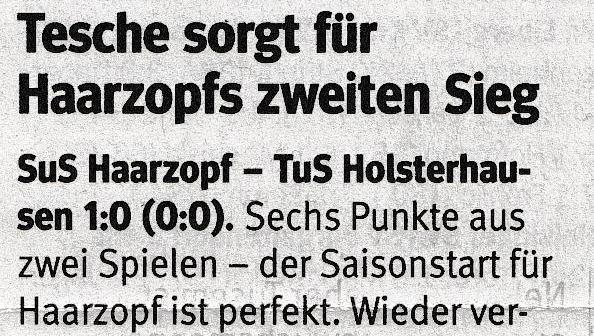 NRZ, 20.08.2016 - Bezirksliga - 2. Spieltag