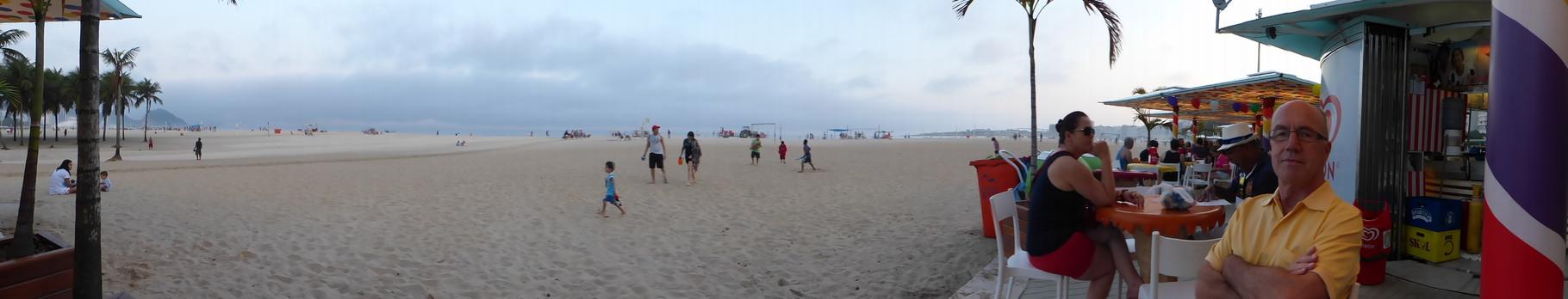 Bei einem Apéro an der Copacabana