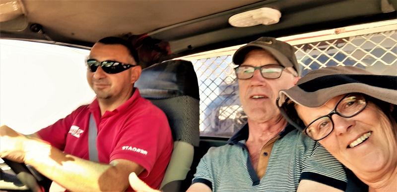 Franzisco fährt uns vorsichtig nach Antofagasta