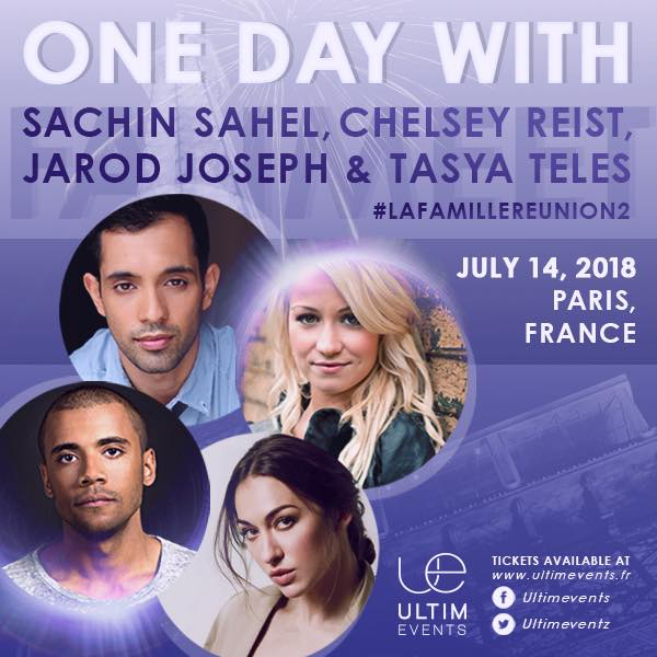 "July 14, 2018 - Paris, France - ""La Famille"" One Day Event- With Sachin Sahel, Jarod Joseph, and Chelsey Reist."
