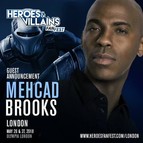 May 26-27, 2018 - London, England - Heroes & Villains - With Mehcad Brooks.