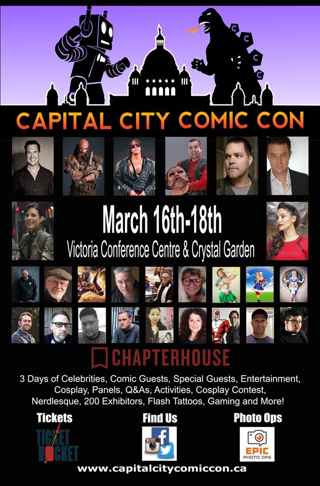 Mar 18, 2018 - Victoria, B.C. - Capital City Comic Con - With Erica Cerra.