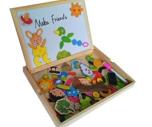 comprar regalos para niños pizarra y rompecabezas magnetico invertirenfamilia.com