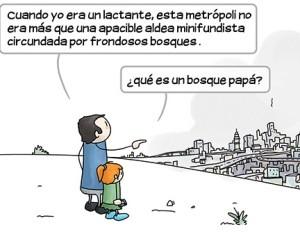 humor gráfico ilustración viñetas bosques homodefectus invertirenfamilia.com