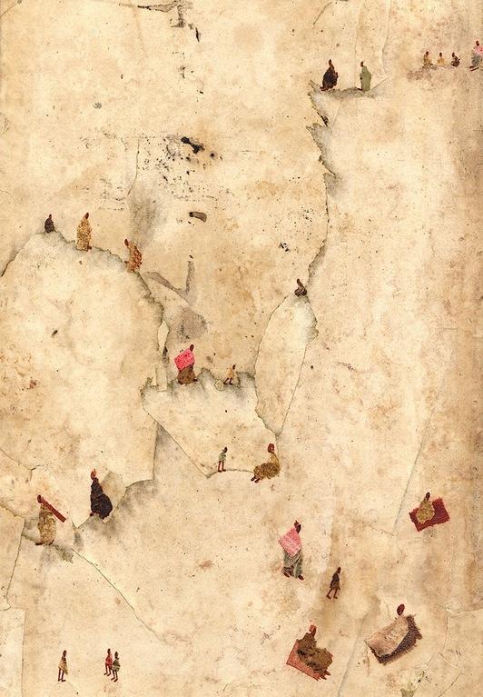 Les failles de la falaise  33x19 cm