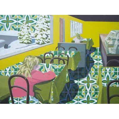 Klaus Walter, Das Café, 2006, Acryl/Öl auf Leinwand  © VG BILD-KUNST, Bonn 2018