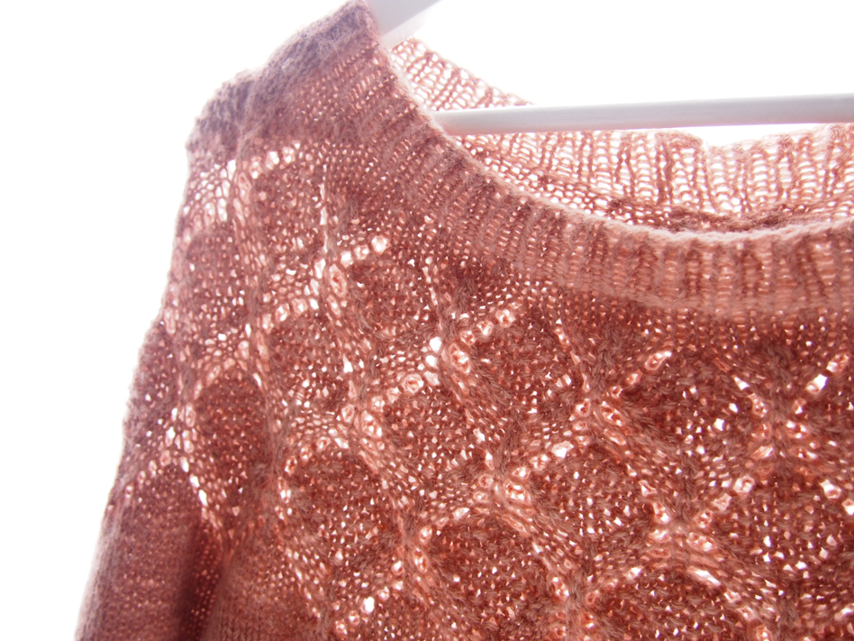 GOLDA DK knitted two stranded with Lace