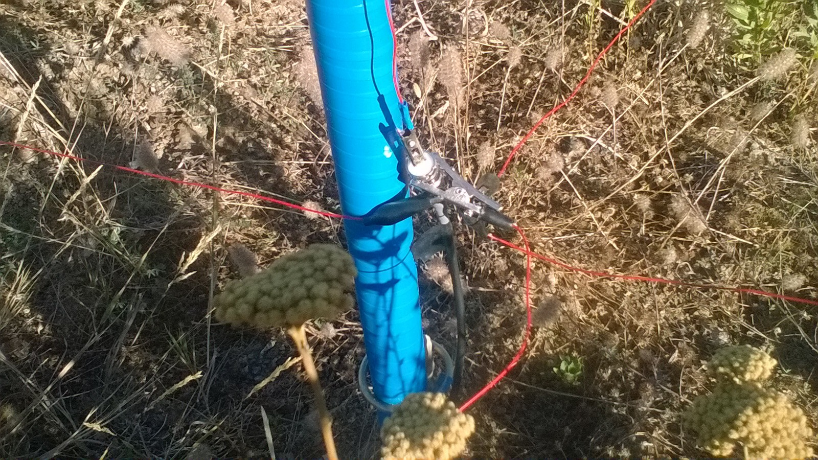 Barsine Vertical Antenna - Radiali installati (IW2HTH)