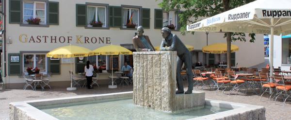 Das `Sonnendeck´ vom Hotel Krone - mitten in Markdorf