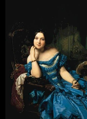 F. Madrazo. Retrato de la condesa de Vilches