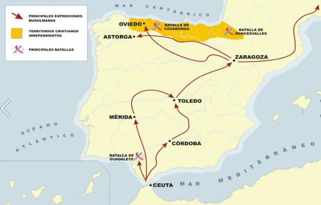Invasión y conquista islámica. Siglo VIII